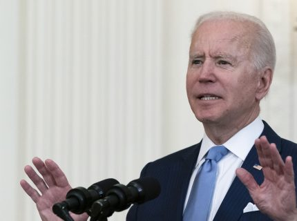 President Joe Biden speaks during a ceremony to present the Medal of Honor to U.S. Army Col. Ralph Puckett in the East Room of the White House, Friday, May 21, 2021, in Washington. (AP Photo/Alex Brandon)